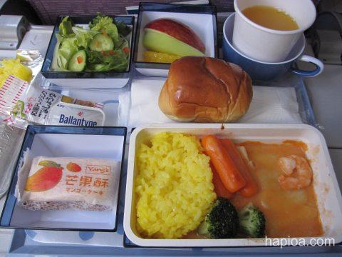 チャイナエアライン 関空→台北機内食