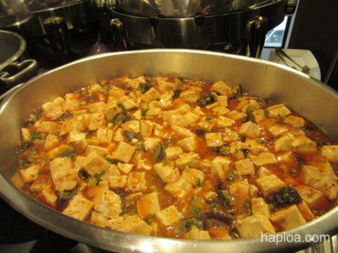 欣葉ビュッフェの麻婆豆腐