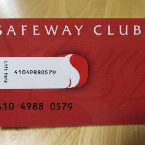 セーフウェイのメンバーズカード
