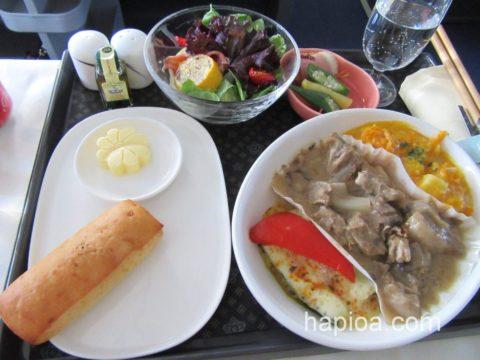 チャイナエアラインビジネス機内食