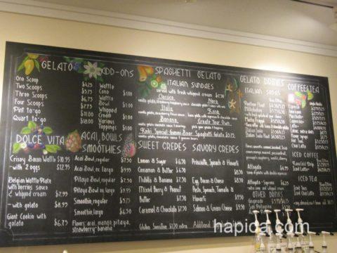 IL Gelato Cafe Haleiwaメニュー