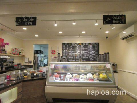 IL Gelato Cafe Haleiwaの店内